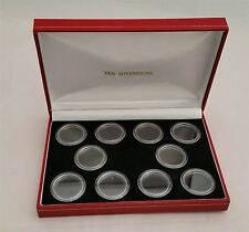 Deluxe Display Case for 10 x Gold Sovereigns in Coin Capsules