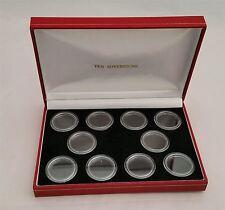 Custodia Deluxe di visualizzazione per 10 x Contenitore in oro in capsule moneta