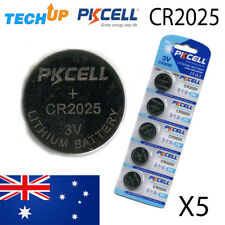 X5 Genuine PKCELL CR2025 v3 lithium Button Cell Coin Batteries Fresh Stock Melb