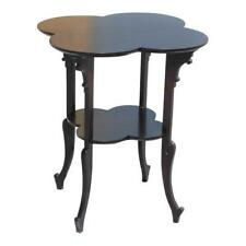 Monumental French Art Deco Dark Mahogany Two-Tier Side Table Or Accent Table .