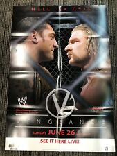 """WWE PPV Poster! HELL IN A CELL! BATISTA & TRIPLE H! 2005 WWE Official! 27""""x39"""""""