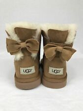 UGGS UGG  MEILANI BOW BOOTS BOOT US Size 5 CHESTNUT SHEEPSKIN