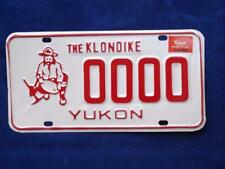 YUKON LICENSE PLATE 1985 SAMPLE 00000 KLONDIKE GOLD MINER VINTAGE SOUVENIR  SIGN