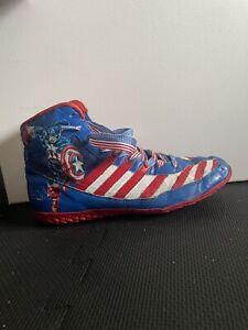 captain America custom painted Magic Man adidas wrestling shoes