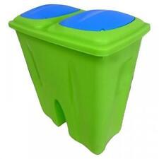 Pattumiere Bidone in plastica verde