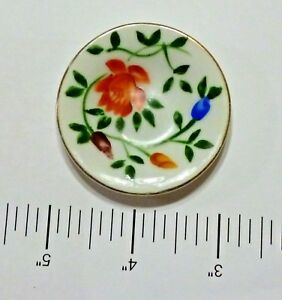 """Hand Painted Mini 2"""" Soup Plate Age Unknown H I Co. Japan"""