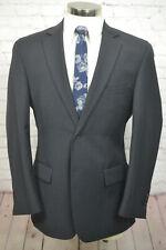 Wilke-Rodriguez Mens Gray Wool Flat Front 2 Piece Suit SIZE 40R 35Wx28L