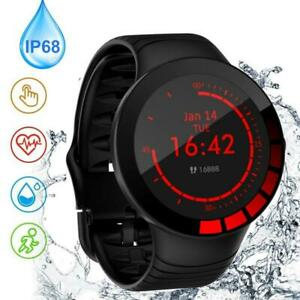 E3 Mens Smart Sports Watch IP68 Heart Rate Blood Pressure Oxygen Fitness Monitor