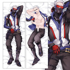 """59"""" Game Overwatch Dakimakura Soldier OW 76 Anime Hugging Body Pillow Case Cover"""