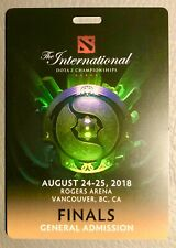 dota 2 international finals. General admission card.