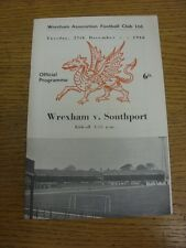27/12/1966 Wrexham v Southport [Postponed] . Thank you for viewing this item, we