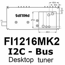 1x fi1216 mk2 sintonizador 48mhz - 855mhz IEC con i2c autobús, Philips