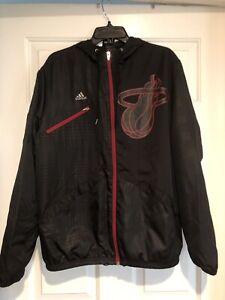 Adidas Jacket Men's Med Miami Heat Limited Edition Zip up NBA
