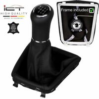New 6-gear leather ICT gear shift knob gaiter boot Skoda Superb II 2 RS 3T A64