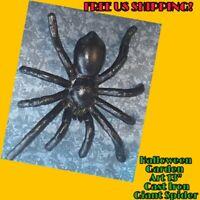 "13"" BIG Cast Iron Metal Tarantula Spider Insect Home Garden Halloween Wall Decor"