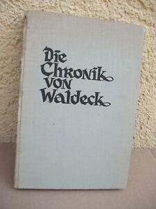 Die Chronik von Waldeck Josef Moskopp 1937 Graf Boos Montfort Burg Ruine Buch