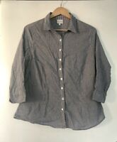 EAST Made In India Cotton Shirt Striped Casual Size 16 Blouse