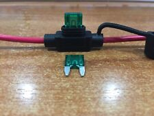 Inline Blade Fuse Holder - 30 Amp - Mini/Small Type 12 AWG Wire & 2 x Free Fuses