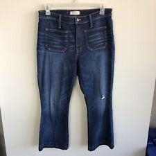 Madewell Women's Size 31 Cali Demi Boot Cut Cropped Dark Wash Jeans