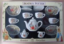 Reutter Porcelain Beatrix Potter Children`s tea set in Gift Box