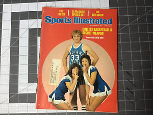 Vintage Rare! LARRY BIRD Sports illustrated magazine Indiana state Boston