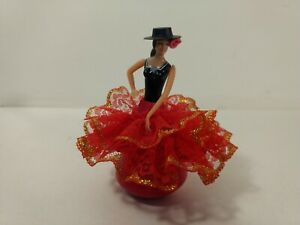 Vintage Flamenco Lady Dancer In Red Dress Figure hd2458