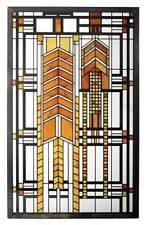 "Frank Lloyd Wright ""AUTUMN SUMAC"" DANA THOMAS HOUSE Stained Art Glass Panel"