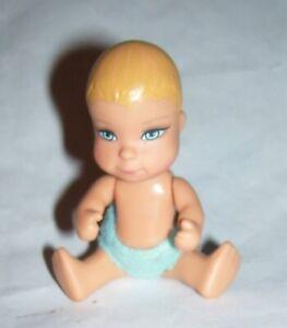 2006 Mattel Barbie / Fisher Price / Loving Family posable baby boy blue diaper