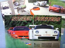 AUTO997-RITAGLIO/CLIPPING/NEWS-1997-PORSCHE 911 GT1/FERRARI F50 - 5 fogli