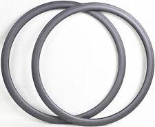 Clincher Rim 16-32H 700C 38mm Depth 23mm Width Carbon Bike Road Rims 2pcs Black