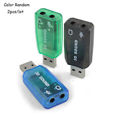 Virtual 5.1 USB 2.0 External Mic/Speaker Audio sound Card Adapter