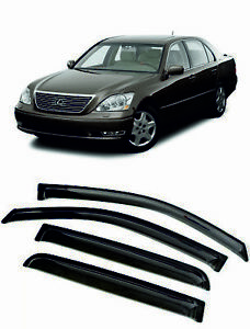 For LEXUS LS430 2000-2006  Window Visors Sun Rain Guard Vent Deflectors