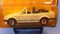 1983 Matchbox MB17 Escort Cabriolet in White w/ Blue Stripe