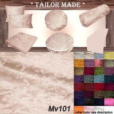 Mv101 Pink Shiny Velvet Sofa Seat Patio Bench Box Cushion Bolster Cover/Runner