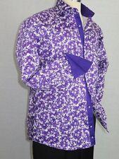 Men Shirt J.Valintin Turkey-Usa 100% Egyption Cotton Axxess Style 1593-06 Purple