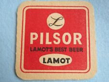 Vintage Beer Pub Coaster: LAMOT'S Pilsor ~ Formerly of the Bass Brewery Line-up