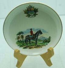 """4.5"""" VINTAGE CANADA ROYAL MOUNTIE PORCELAIN DECORATIVE PLATE W/STAND"""