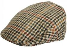 Mens or Boys Tweed Country Flat Cap Peaked Outdoors Check Racing Hat Newsboy Hat