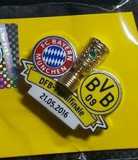 DFB Pokal-Finale Pin Borussia Dortmund Bayern München 2016 in Berlin OVP