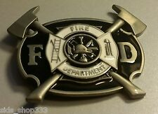 ♈ FIRE DEPARTMENT Belt Buckle ♈ Fire Dept Great gift.Classic style Axe ladder