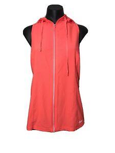 Lorna Jane Racer Back Running Vest Sleeveless Jacket Orange Reflective Size 12