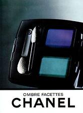Publicité Advertising 2000 CHANEL ombre facettes Maquillage poudre