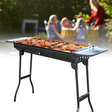 Outdoor Portable Grill Charcoal Barbecue Folding BBQ Shish Kabob Stove Camping