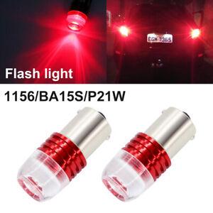 G4 AUTOMOTIVE 2x BA15s 1156 LED Bulb 5x Flashing Strobe/Stop Brake Warning Light