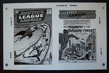 Org. Production Art JUSTICE LEAGUE OF AMERICA #17 cover & splash, MIKE SEKOWSKY