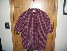 Old Navy Reg Fit Mens 3XL Dress Shirt Red/White