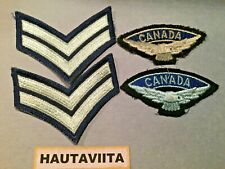 Canada RCAF Royal Canadian Airforce Shoulder Eagle Patches + Corporal Chevrons