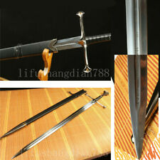 Lord the Rings Anduril Sword of Aragorn Sharp stainless steel blade Black saya