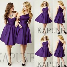 Short Purple Prom Evening Homecoming Dress Bridesmaid Formal Party Ball Dresses