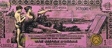 Steve Kaufman SAK - 1896 $1 One Dollar Bill - Original Embellished Screenprint